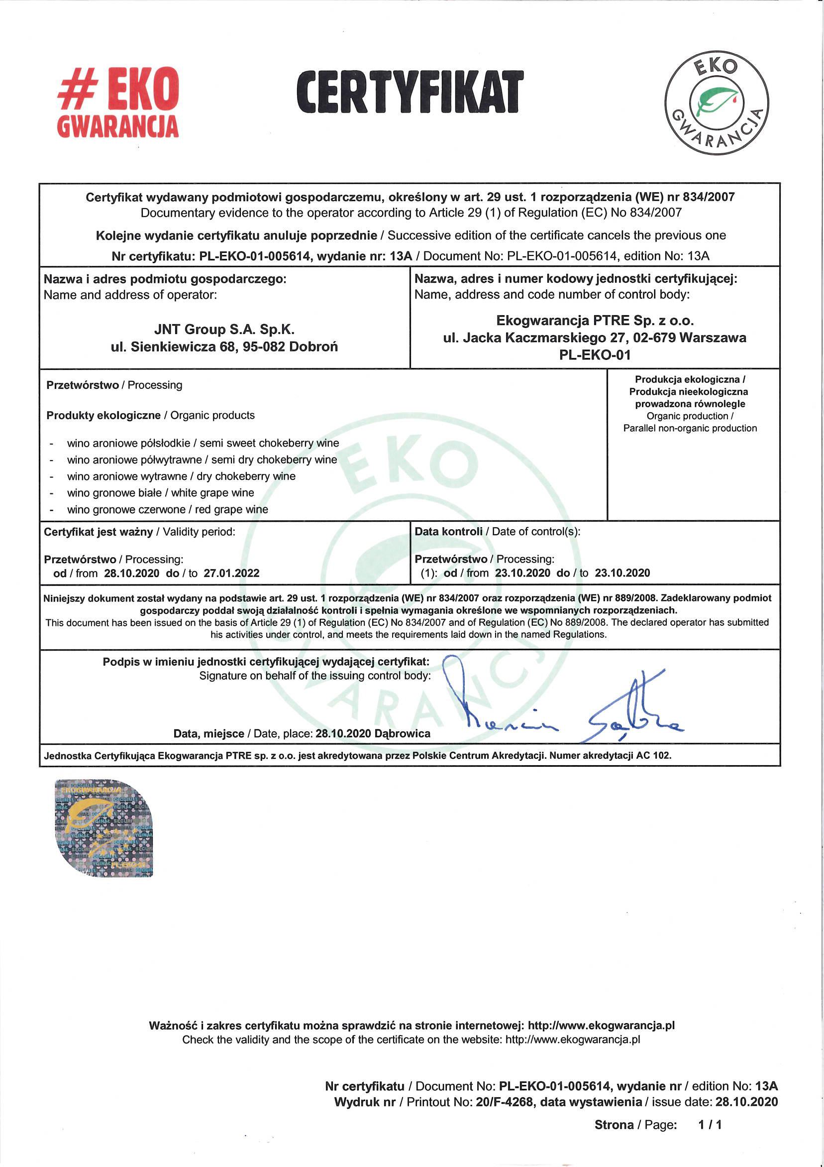 Certyfikat-Eko-Gwarancja-PL-EKO-01-005614-ważny-do-28.01